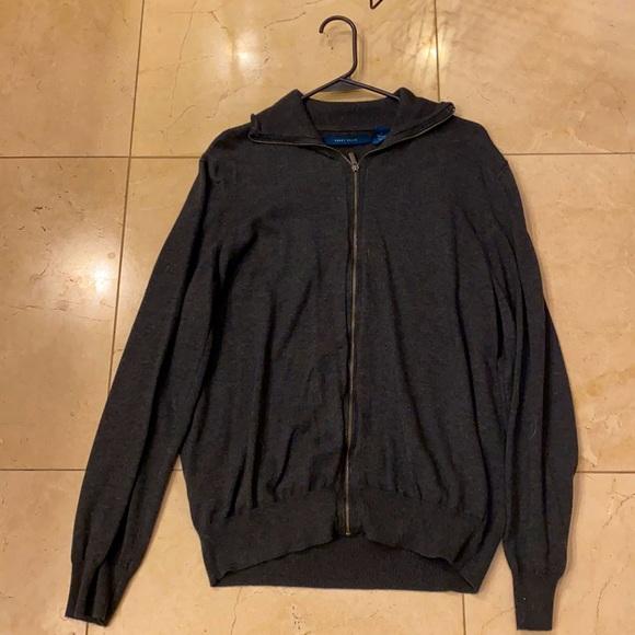 Perry Ellis men's Full Zip Mock Neck Jacket